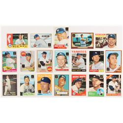 1996 Topps Mantle Complete Set of (19) Baseball Cards with #2 Mickey Mantle / 1952 Topps, #3 Mickey