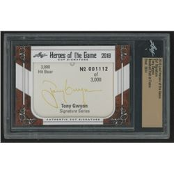 2018 Leaf Heroes of the Game Cut Signature Tony Gwynn (Leaf Authentic)