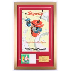 "Disneyland Tomorrowland ""Skyway"" 17x27 Custom Framed Print Display with Ticket  Envelope"