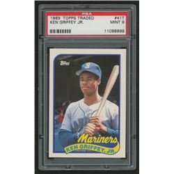 1989 Topps Traded #41T Ken Griffey Jr. RC (PSA 9)