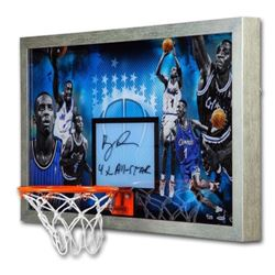 "Penny Hardaway Signed LE Magic 18.5x30.5 Custom Framed Backboard Display Inscribed ""4X All-Star"" (UD"