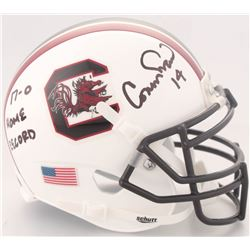 "Connor Shaw Signed South Carolina Gamecocks Mini Helmet Inscribed ""17-0 HOME RECORD"" (Radtke COA)"
