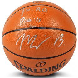 "Miles Bridges Signed LE Basketball Inscribed ""1st Rd Pk 18"" (UDA COA)"