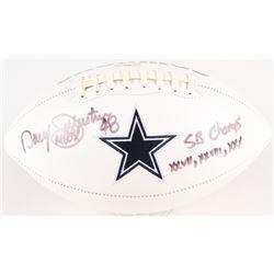"Darryl Johnston Signed Cowboys Logo Football Inscribed ""SB Champs XXVII, XXVIII, XXX"" (Radtke COA)"
