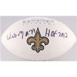 """Willie Roaf Signed Saints Football Inscribed """"HOF 2012"""" (Radtke Hologram)"""