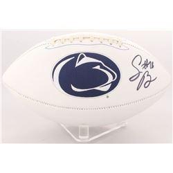 Saquon Barkley Signed Penn State Nittany Lions Logo Football (JSA COA)