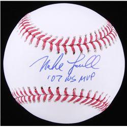 "Mike Lowell Signed OML Baseball Inscribed ""07 WS MVP"" (MAB Hologram)"