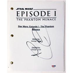 "Ray Park Signed ""Star Wars: Episode I – The Phantom Menace"" Full Movie Script (PSA COA)"
