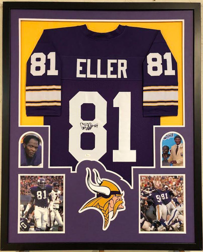 1fbd190b Image 1 : Carl Eller Signed Vikings 34x42 Custom Framed Jersey Display (JSA  COA)