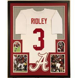 Calvin Ridley Signed Alabama Crimson Tide 34x42 Custom Framed Jersey Display (JSA COA)