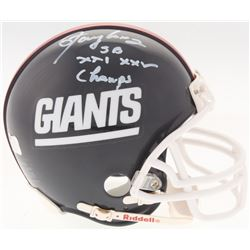 "Lawrence Taylor Signed Giants Mini Helmet Inscribed ""SB XXI XXV Champs"" (Radtke COA)"