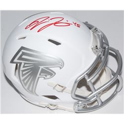 Deion Jones Signed Falcons White ICE Speed Mini-Helmet (Radtke COA)