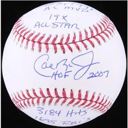 Cal Ripken Jr. Signed OML Baseball with (5) Inscriptions (JSA COA)
