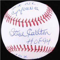 Steve Carlton Signed OML Baseball with (3) Inscriptions (SGC COA)