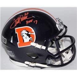 "Terrell Davis Signed Broncos Color Rush Speed Mini Helmet Inscribed ""HOF 17"" (Radtke COA)"