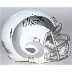 Todd Gurley Signed Rams White ICE Speed Mini Helmet (Radtke COA)