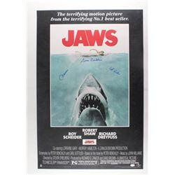 "Susan Backlinie Signed ""Jaws"" 24x36 Movie Poster Inscribed ""Chrissie""  ""1st Victim"" (JSA COA)"