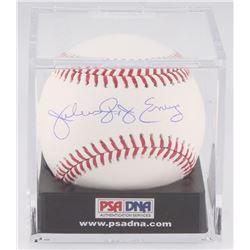 Julius Erving Signed OML Baseball with Display Case (PSA COA - Graded 10)