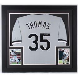 Frank Thomas Signed White Sox 31x35 Custom Framed Jersey (JSA COA)
