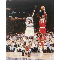 Hakeem Olajuwon Signed Rockets 16x20 Photo (JSA COA)