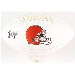 Baker Mayfield Signed Browns Logo Football (Beckett COA)