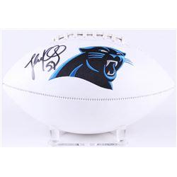 Luke Kuechly Signed Panthers Logo Football (JSA COA)