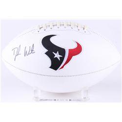 Deshaun Watson Signed Texans Logo Football (Beckett COA  Watson Hologram)