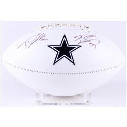 Tyron Smith  Travis Frederick Signed Cowboys Logo Football (JSA COA)