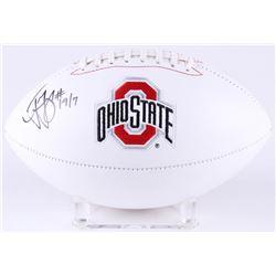 Ted Ginn Jr. Signed Ohio State Buckeyes Logo Football (JSA COA)