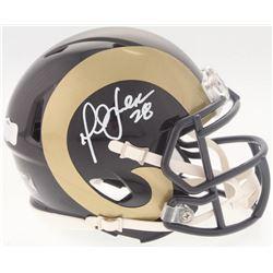 Marshall Faulk Signed Rams Speed Mini Helmet (Radtke COA)