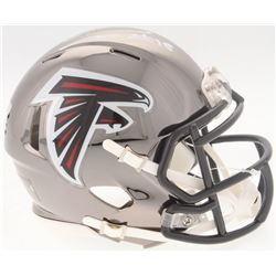 Calvin Ridley Signed Falcons Chrome Speed Mini-Helmet (Radtke COA  Ridley Hologram)