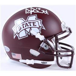 Dak Prescott Signed Mississippi State Bulldogs Mini-Helmet (Beckett COA)