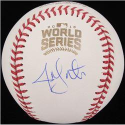Jon Lester Signed 2016 World Series Logo Baseball (Schwartz COA)