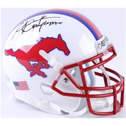 "Eric Dickerson Signed SMU Mustangs Mini-Helmet Inscribed ""Pony Express"" (Beckett COA)"