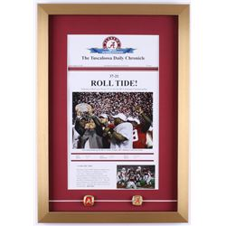 Alabama Crimson Tide 2009 BCS National Champions 16x23 Custom Framed Print Display with (2) Champion