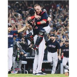 "Christian Vazquez Signed Red Sox 16x20 Photo Inscribed ""WSC 18"" (JSA COA)"