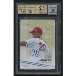 2013 Rize Draft Emergence Autographs Gold #8 Aaron Judge /200 (BAS 9.5)