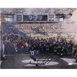 Ray Lewis Signed Ravens 16x20 Photo (JSA COA)