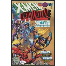 "Stan Lee Signed 1996 ""X-Men: Clan Destine"" Issue #1 Marvel Comic Book (JSA COA  Lee Hologram)"