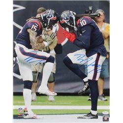 DeAndre Hopkins  Will Fuller Signed Texans 16x20 Photo (JSA COA)