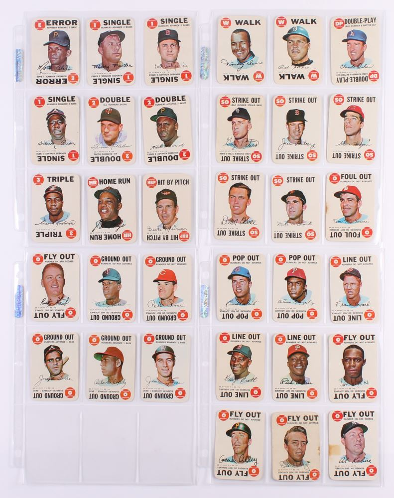 Comeplete Set Of 33 1968 Topps Game Baseball Cards With