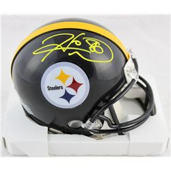 Hines Ward Signed Steelers Mini Helmet (Beckett COA)