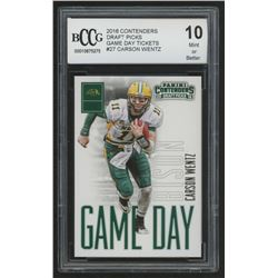 2016 Panini Contenders Draft Picks Game Day Tickets #27 Carson Wentz (BCCG 10)