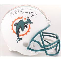 "Ricky Williams Signed Dolphins Full-Size Helmet Inscribed ""10,009 Rushing Yards"" (JSA COA)"