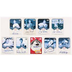 Lot of (9) 2003 Upper Deck Yankees Signature Pride of New York Autographs #RT Ralph Terry, #TK Tony