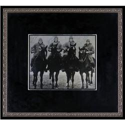"1924 Notre Dame ""Four Horsemen"" 16x17.5 Framed Photo Signed by (4) with Don Miller, Elmer Layden, Ji"