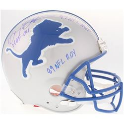 "Barry Sanders Signed Lions Authentic On-Field Helmet Inscribed ""HOF 04"", ""89 NFL ROY""  ""97 NFL MVP"""
