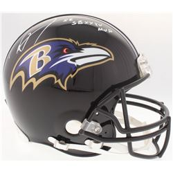 """Ray Lewis Signed Ravens Authentic On-Field Full-Size Helmet with Inscribed """"SB XXXV MVP"""" (JSA COA)"""