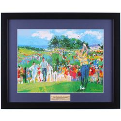 "LeRoy Neiman ""Jack Nicklaus  Nick Faldo"" 17x21 Custom Framed Print Display"
