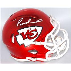 Patrick Mahomes Signed Chiefs Chrome Mini Speed Helmet (Fanatics Hologram)